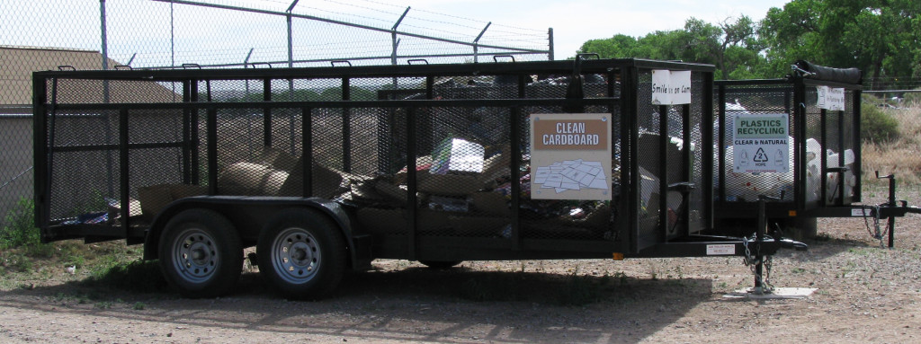 Recycling Collection Trailers at the Pueblo of Santa Ana Resource Recovery Park